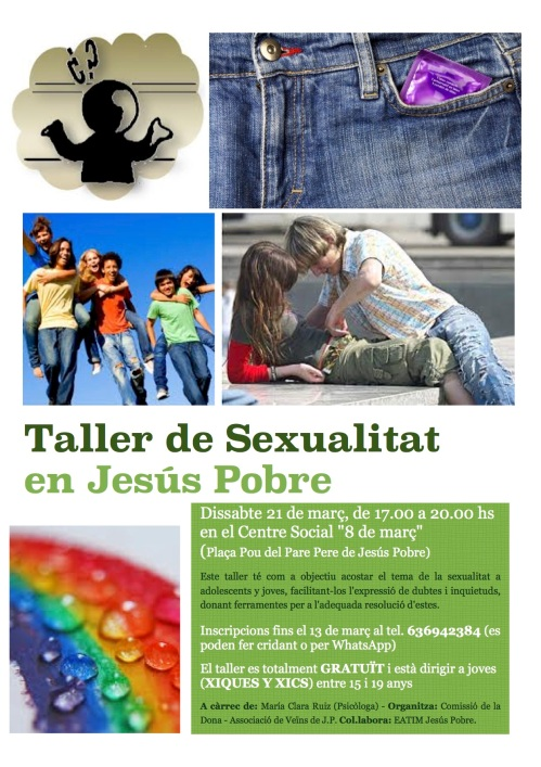 CARTEL TALLER SEXUALITAT JP